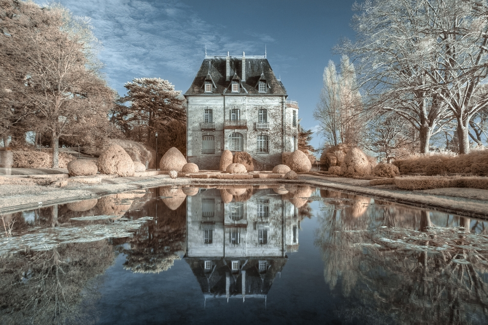 A piece of fine art art photography titled Chateau De Truyes IR by Jean-Baptiste Barbier