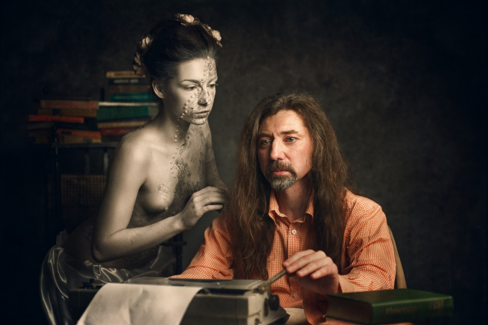 A piece of fine art art photography titled The Muse of the Poet by Konstantin Pilipchuk