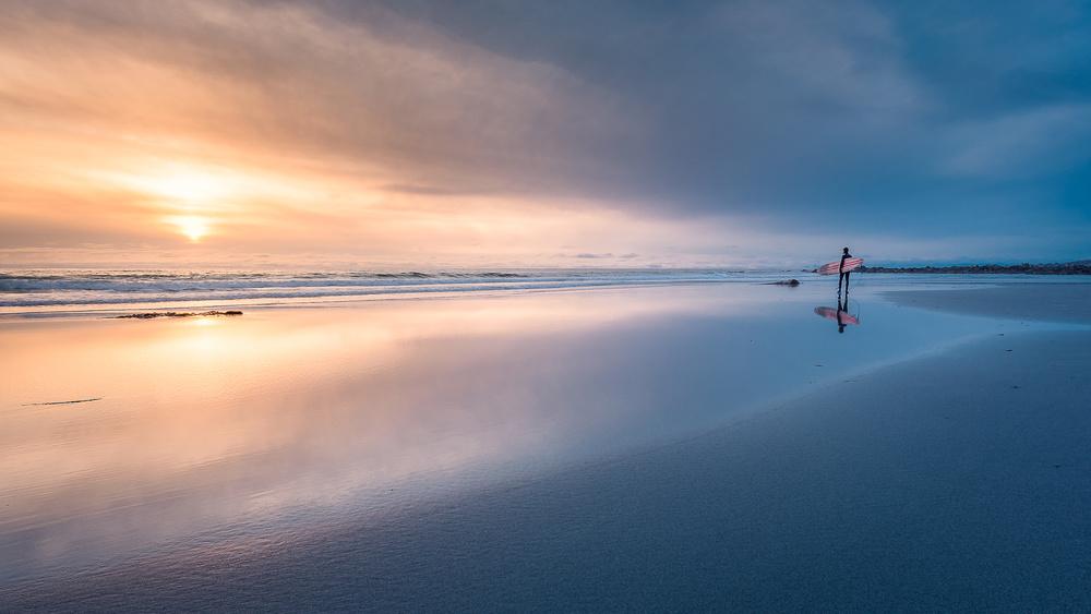 A piece of fine art art photography titled Surfer by Tomasz Orylski