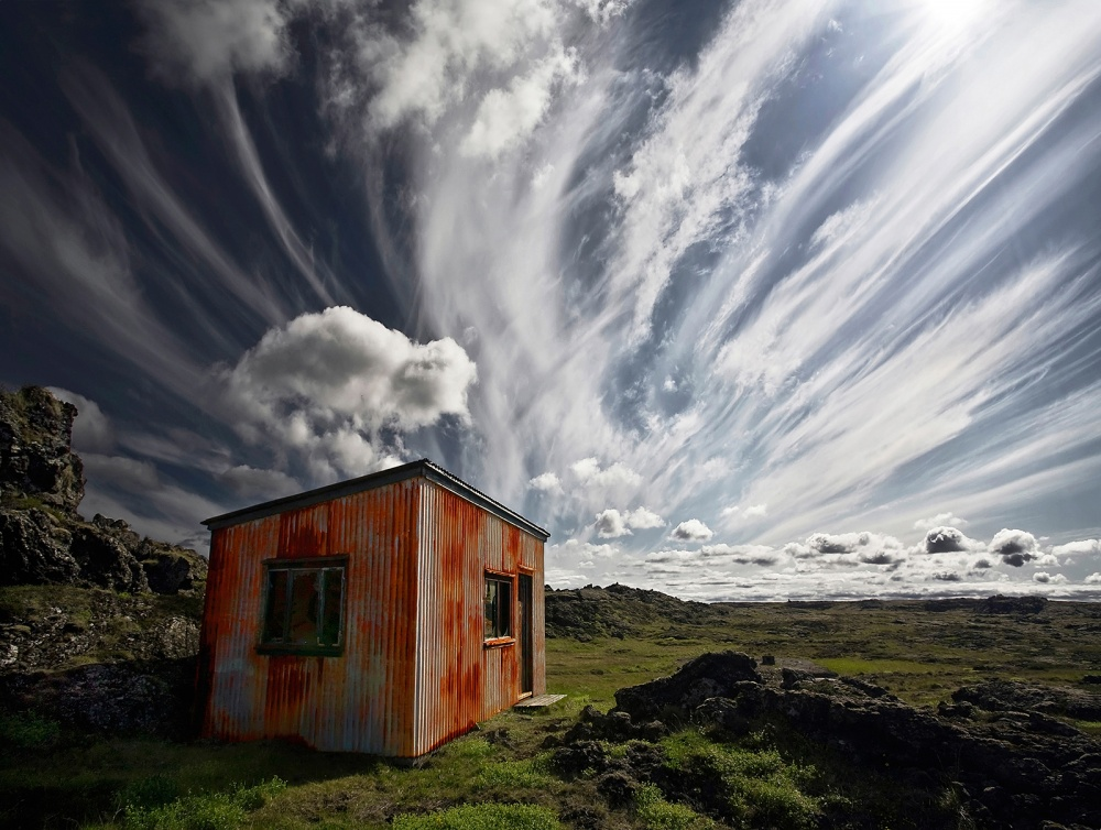 A piece of fine art art photography titled Old Shack by Þorsteinn H. Ingibergsson
