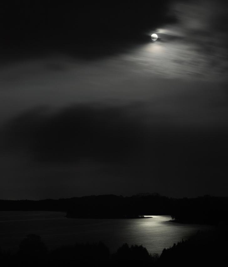 A piece of fine art art photography titled Moonlight River by Przemek Wielicki
