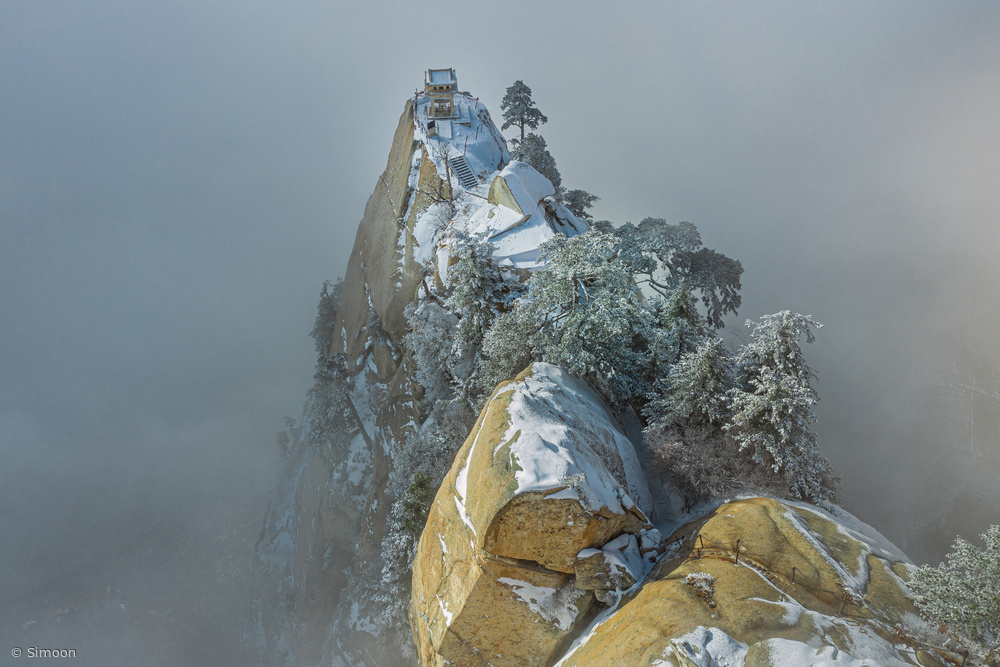 View this piece of fine art photography titled Huashan Mountain by Simoon