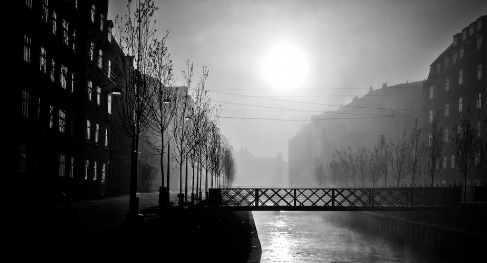 A piece of fine art art photography titled Foggy Day by Søren Flaunø