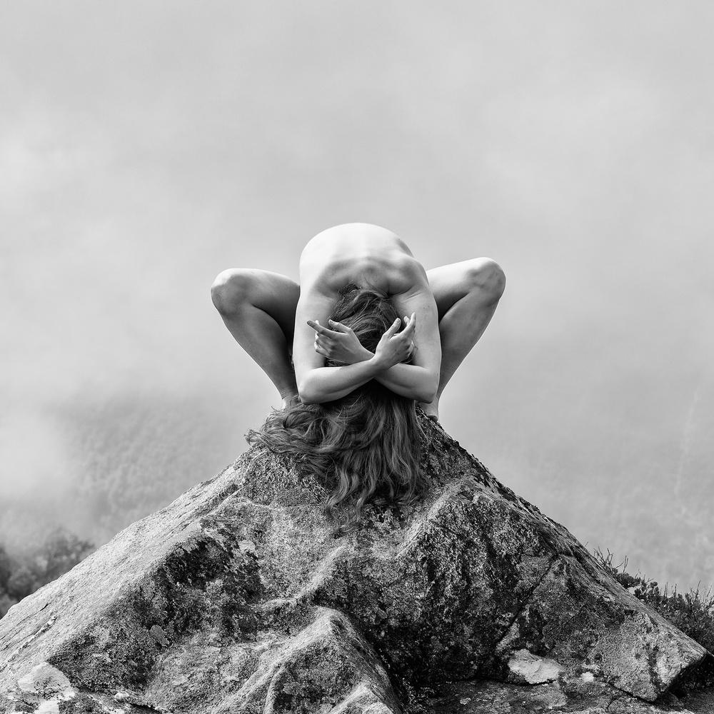 A piece of fine art art photography titled Dancer On Rock by Lars Martin Teigen