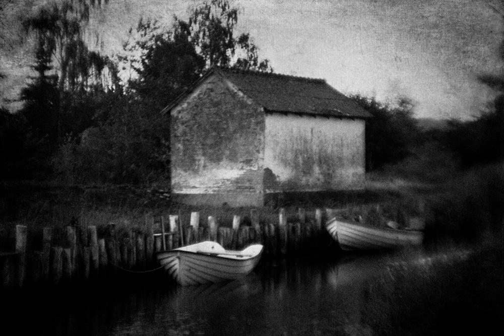 A piece of fine art art photography titled Fishing Boats by Jørgen Feldstedt