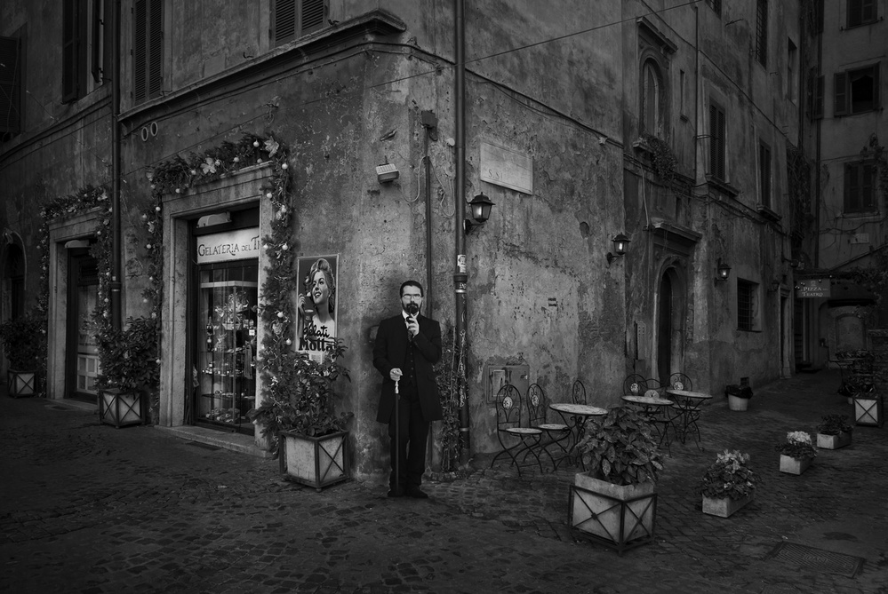 A piece of fine art art photography titled 19th Century Rome by Jose C. Lobato