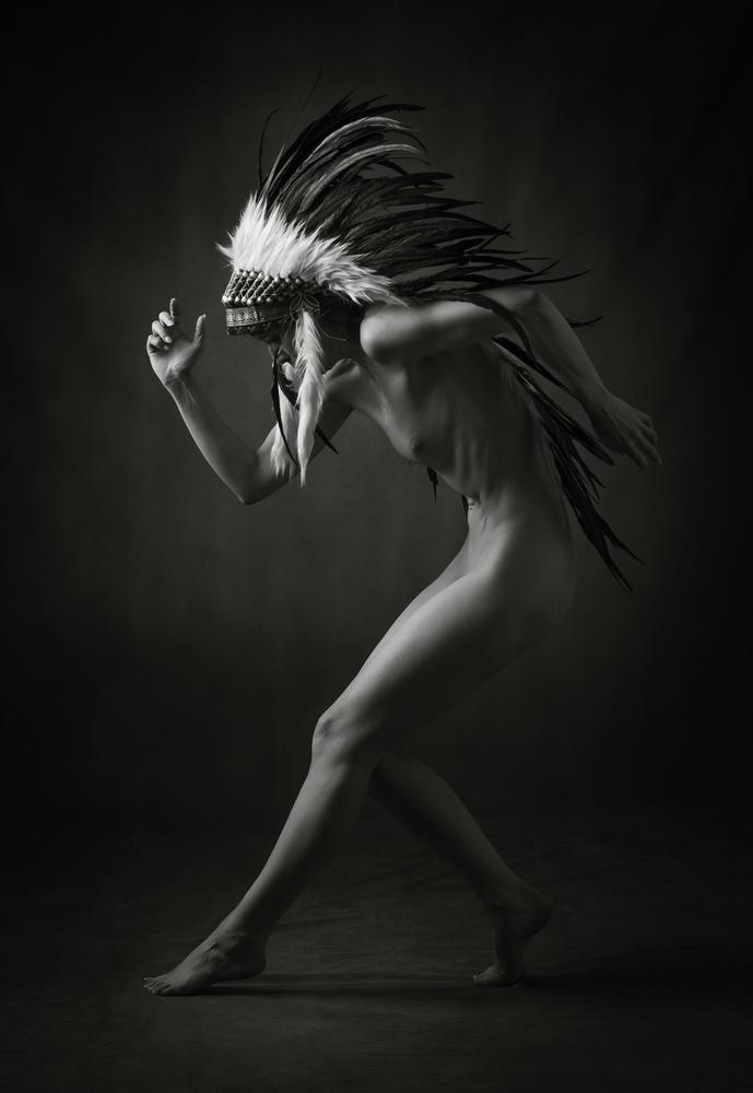 A piece of fine art art photography titled War Dance by Ross Oscar