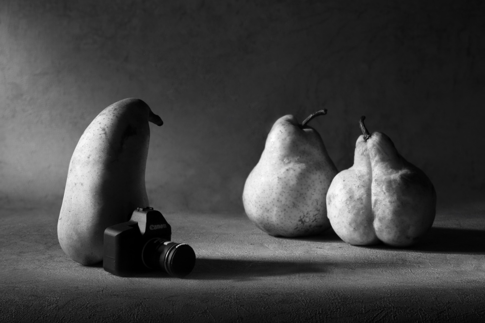 A piece of fine art art photography titled Before a Photosession by Victoria Ivanova