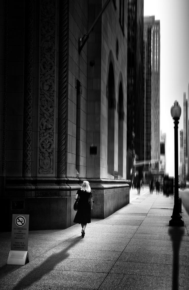 A piece of fine art art photography titled Sidewalk #5 by ZP Liu
