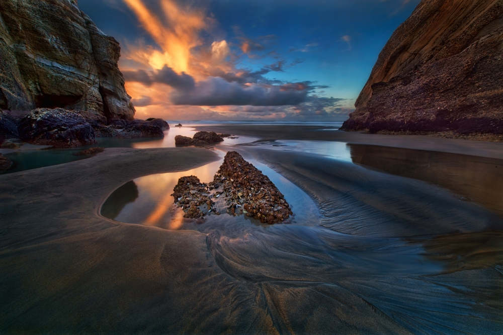 A piece of fine art art photography titled When the Tide Receded by Yan Zhang