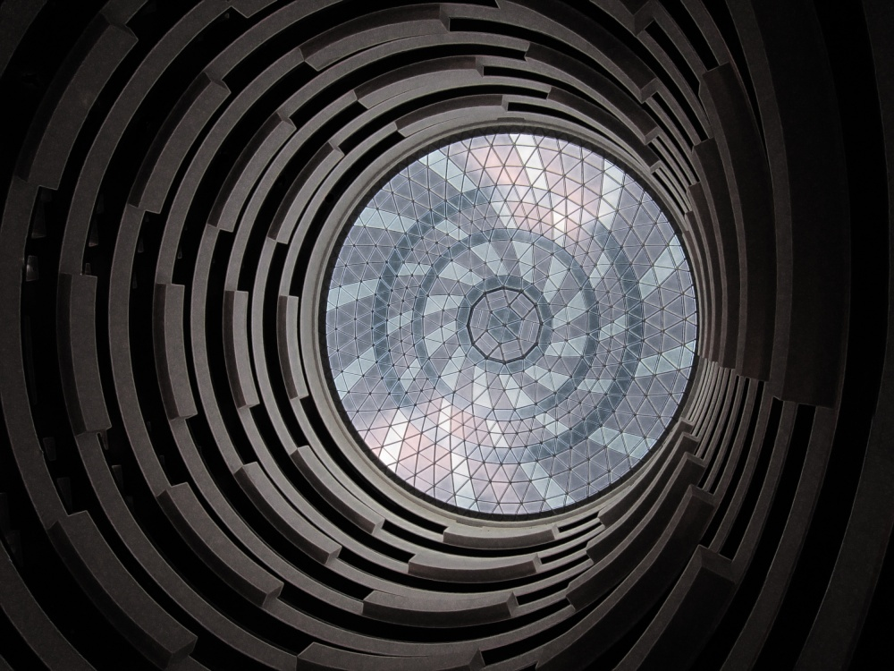 A piece of fine art art photography titled Asymmetric Spiral Beauty by Jay Chandran