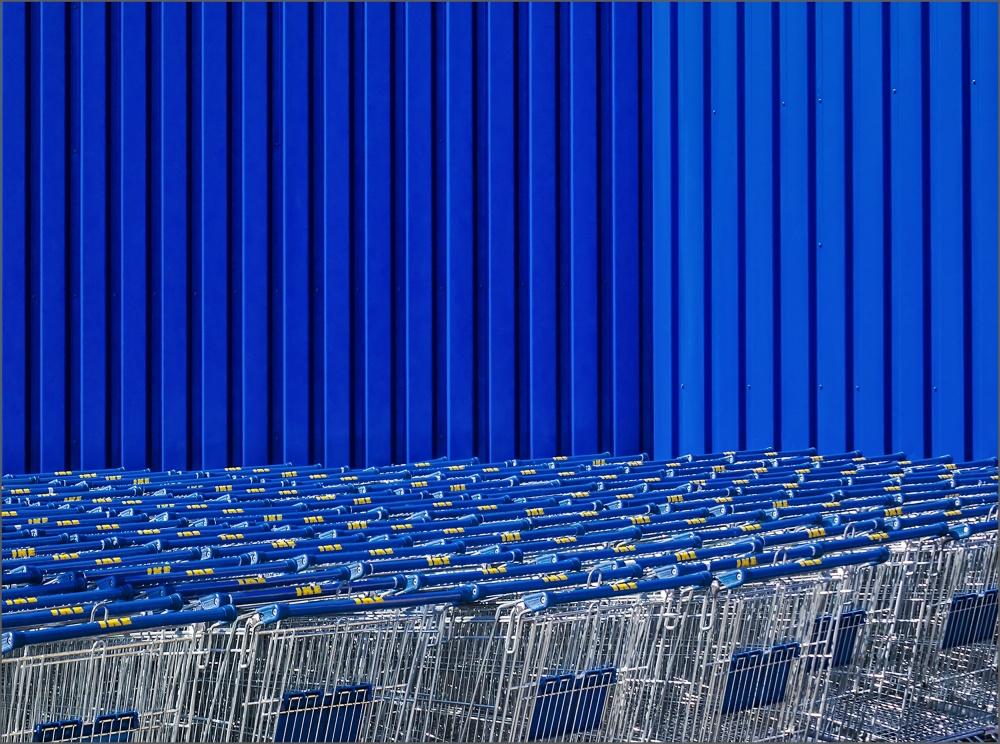 A piece of fine art art photography titled Elk - Blue by Herbert A. Franke