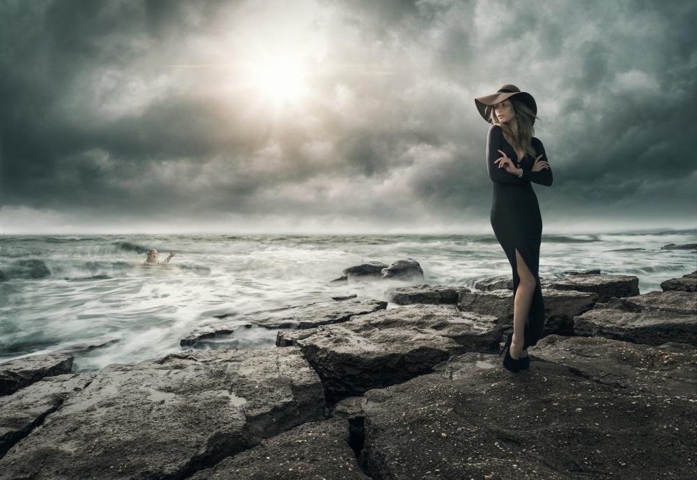 A piece of fine art art photography titled Facing Adversity by Jonas Kekko