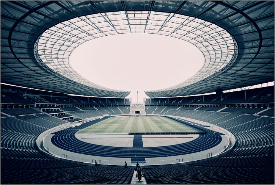 A piece of fine art art photography titled Olympiastadion by MarS-Photo