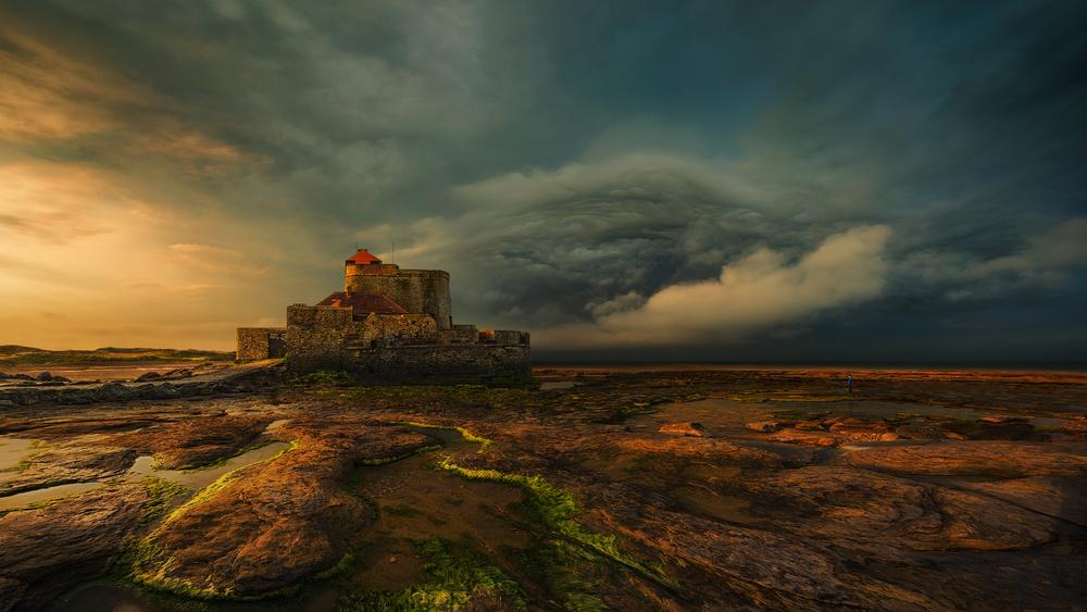 A piece of fine art art photography titled Fort D'Ambleteuse by Pawel Kucharski