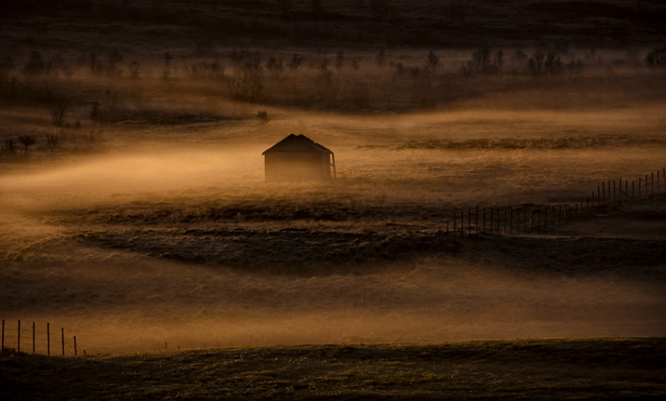 A piece of fine art art photography titled Lonely House by Oona Torgersen