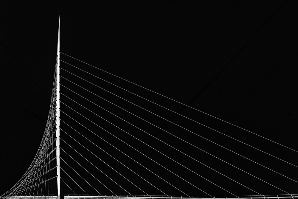 A piece of fine art art photography titled Calatrava's Citer by Jef Van den Houte