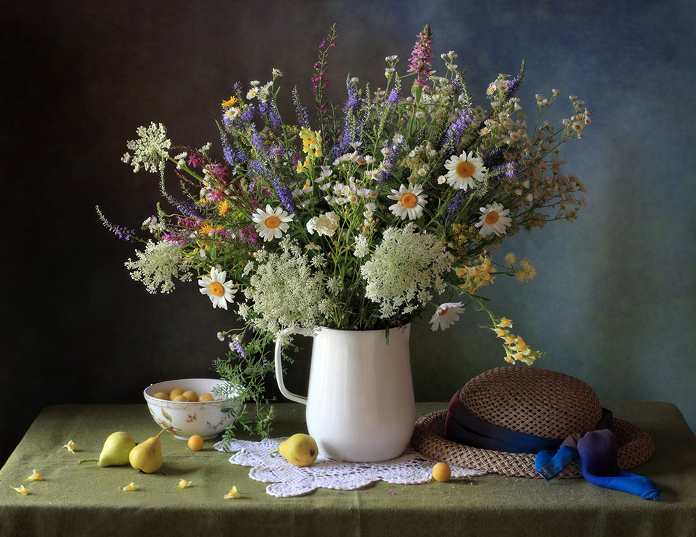 A piece of fine art art photography titled Still-life With Meadow Flowers by Tatyana Skorokhod (Татьяна Скороход)