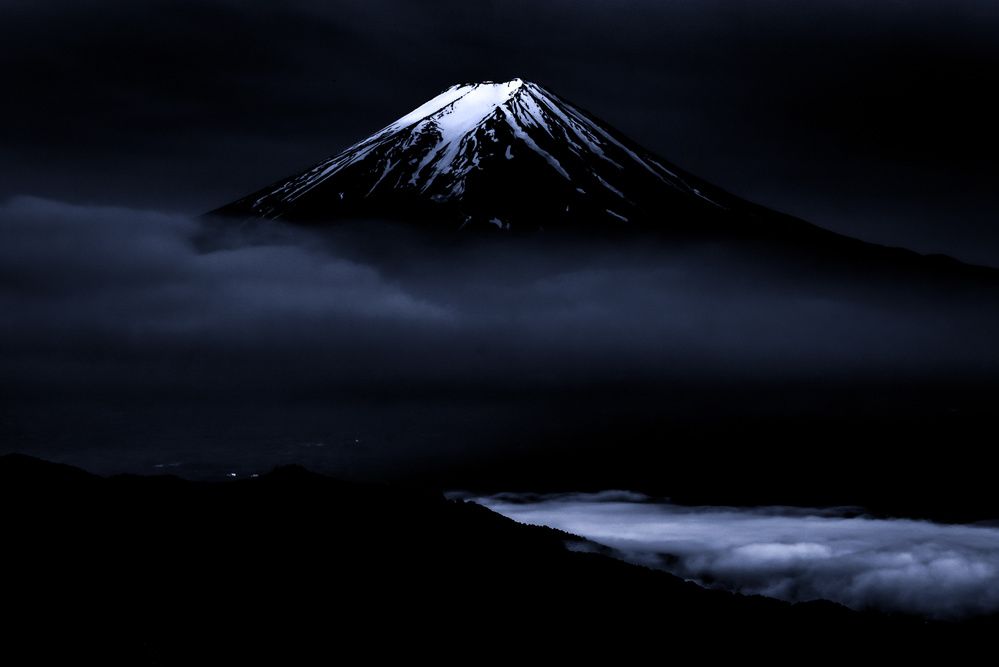 A piece of fine art art photography titled Vision of Mt Fuji by Takashi