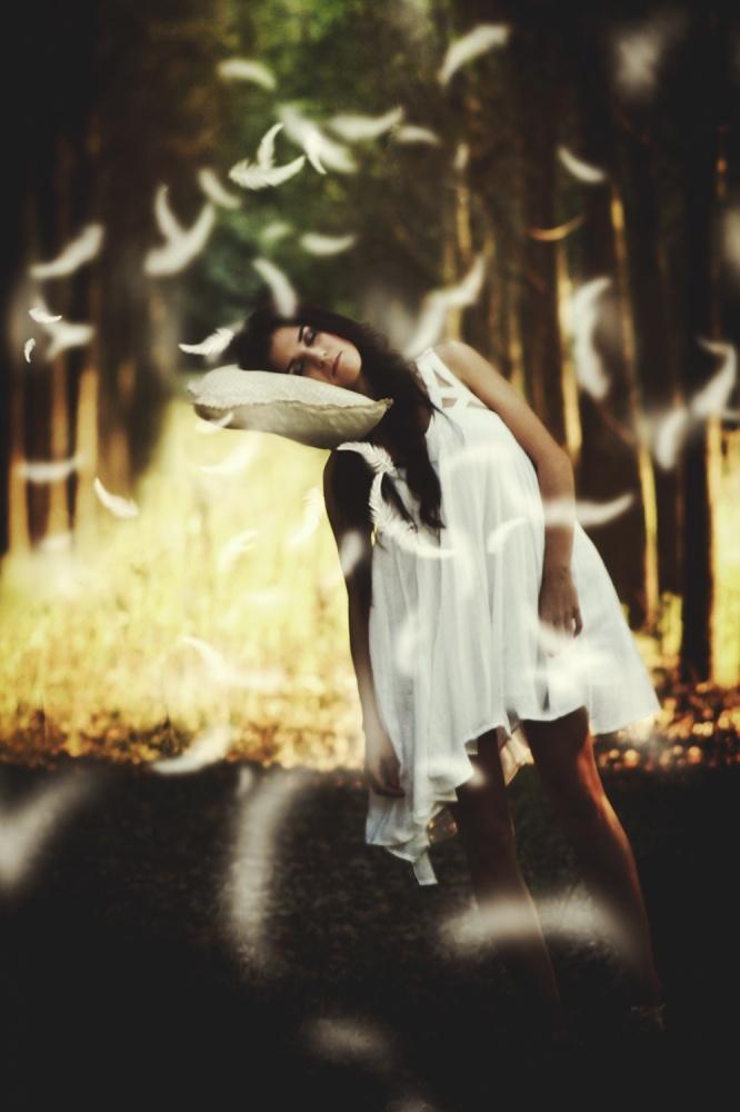 A piece of fine art art photography titled Sweet Dreams by Katalin Palkó