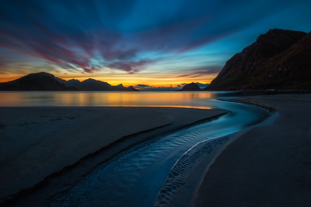 A piece of fine art art photography titled Blue River by Pawel Kucharski