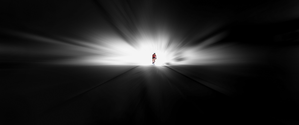 A piece of fine art art photography titled Towards the Tunnel by Huib Limberg
