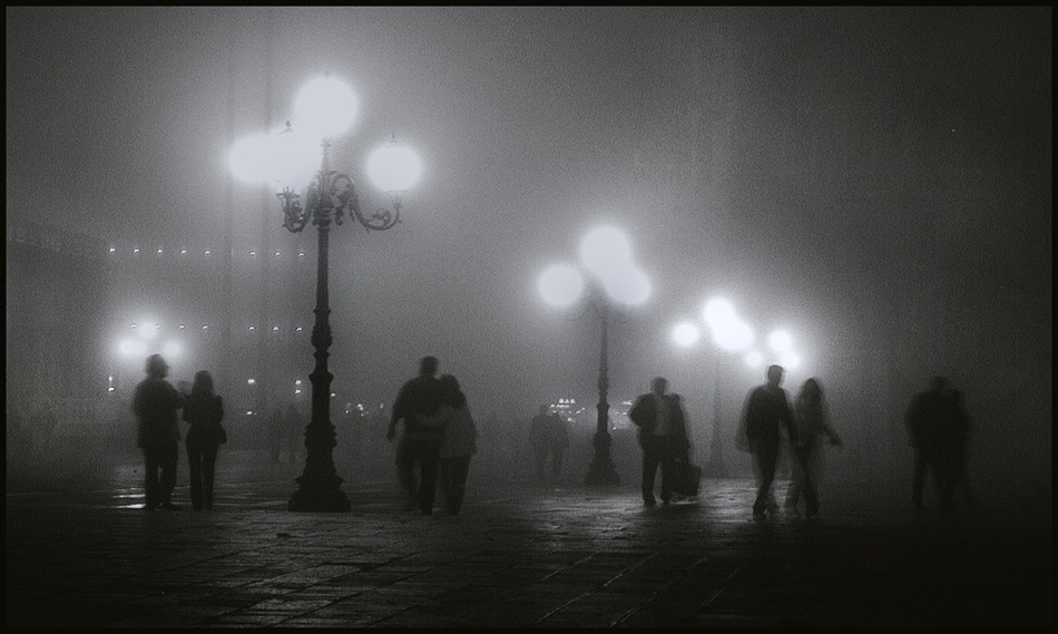 A piece of fine art art photography titled Saturday Night In Venice by roby bon