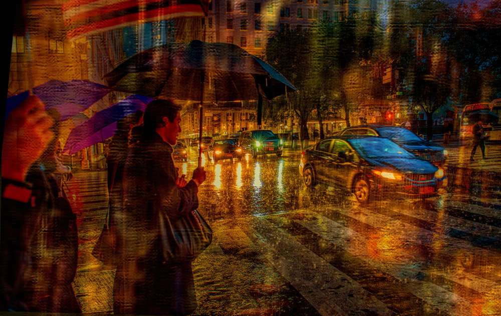 A piece of fine art art photography titled  Under the Umbrella by Anette Ohlendorf