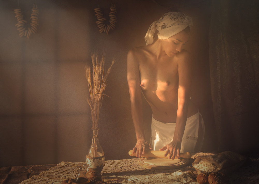 A piece of fine art art photography titled Baker by Evgeny Loza