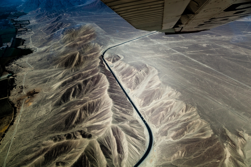 A piece of fine art art photography titled The Pan-American Highway by franco farinati