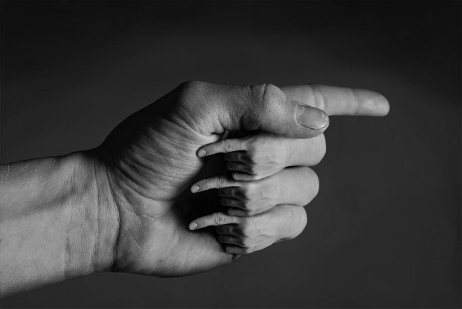 A piece of fine art art photography titled Pointing by Jannik René