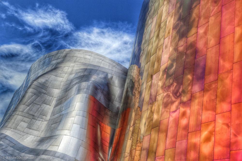 Gehry architecture, Seattle, Washington USA