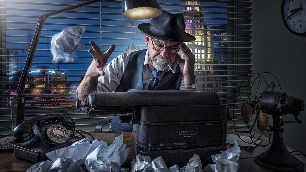 A piece of fine art art photography titled Writer's Block by Adrian Donoghue