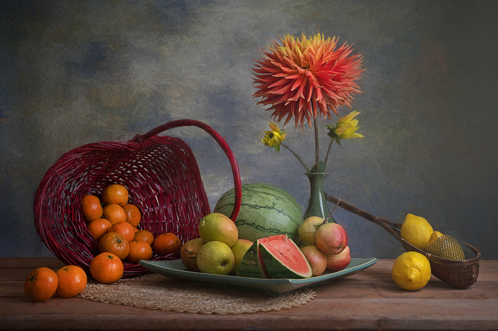 A piece of fine art art photography titled Fruits by Lydia Jacobs