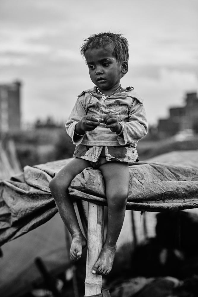 A piece of fine art art photography titled Bagmati Boy by Jan Møller Hansen