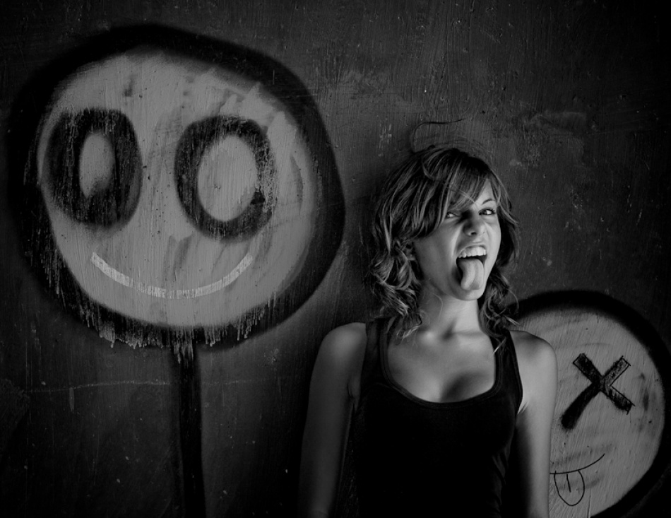 A piece of fine art art photography titled Crazy Nina by Alexander Kharlamov