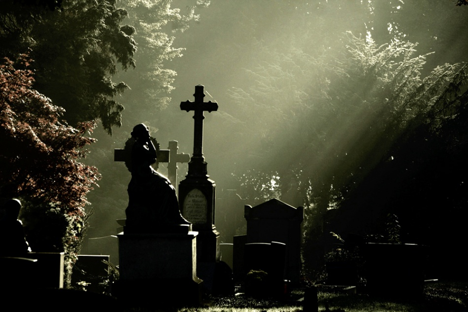 A piece of fine art art photography titled At the Graveyard by Rosalinde Philippin-Lipscomb
