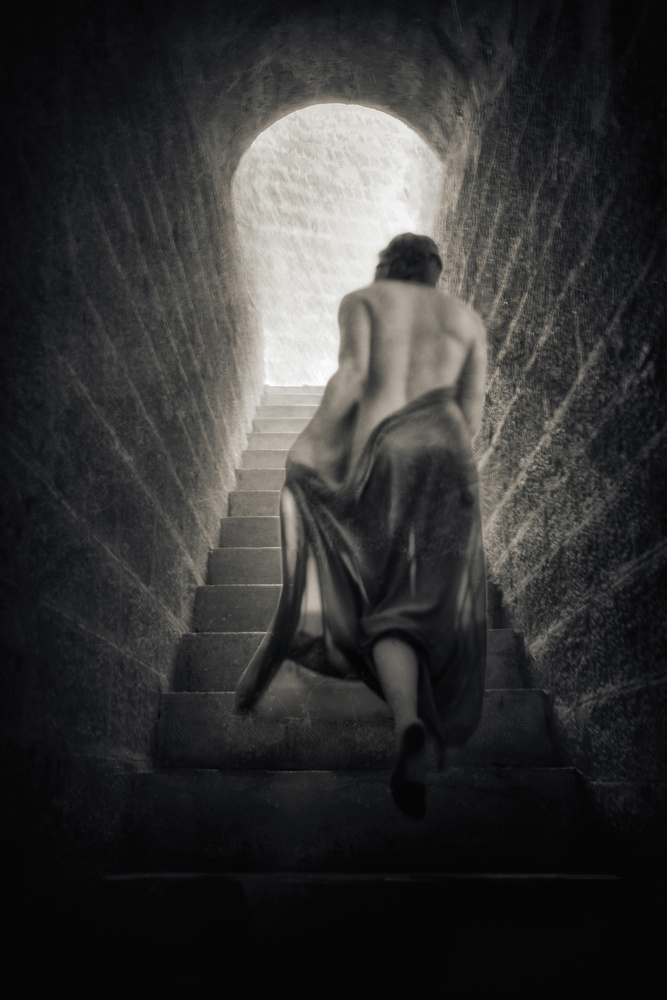 A piece of fine art art photography titled It Isn't Like the Thought of a Man Who Lies by Charlaine Gerber
