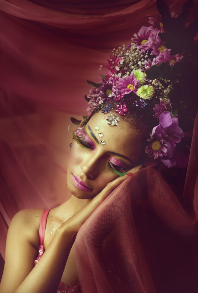 A piece of fine art art photography titled Flower Fairy by ummi zaluna