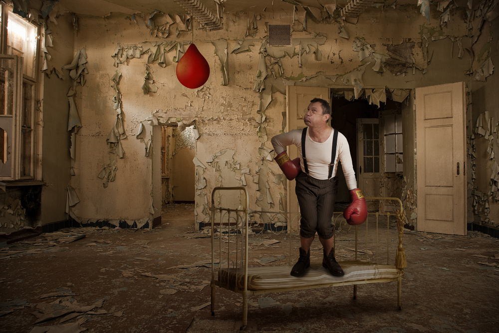 A piece of fine art art photography titled The Little Boxer II by Christine von Diepenbroek