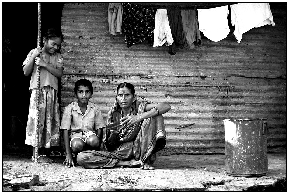 A piece of fine art art photography titled Family T-(h)-ree by Vikram Jamwal