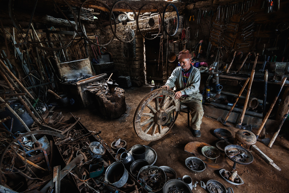 A piece of fine art art photography titled The Blacksmith by serkan daldal