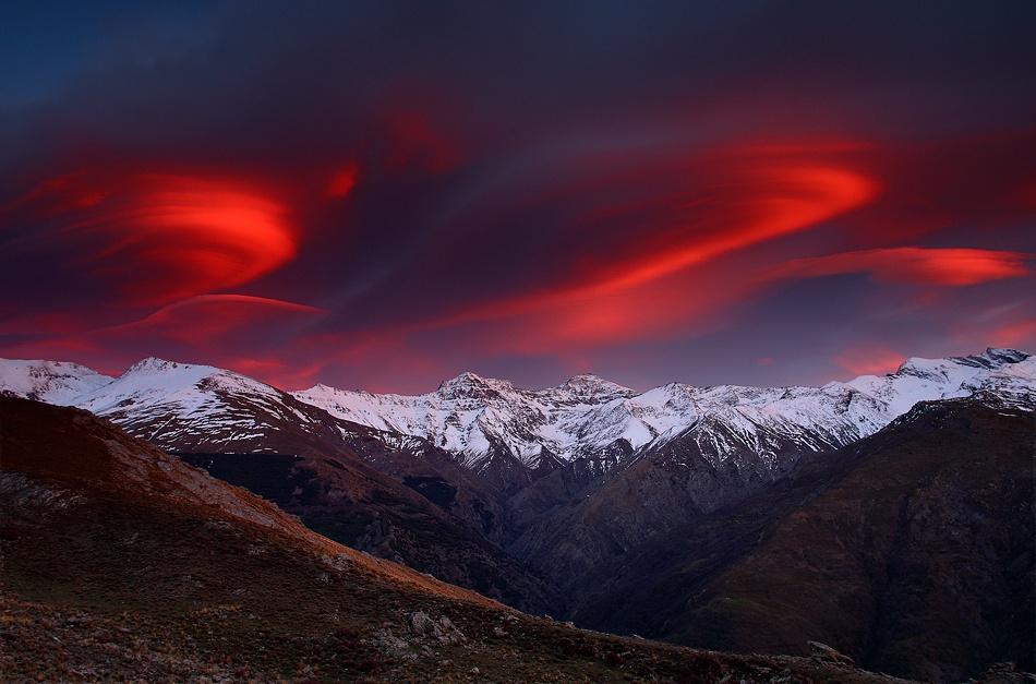 A piece of fine art art photography titled La Cordillera De Los Tres Miles by Francisco Mingorance