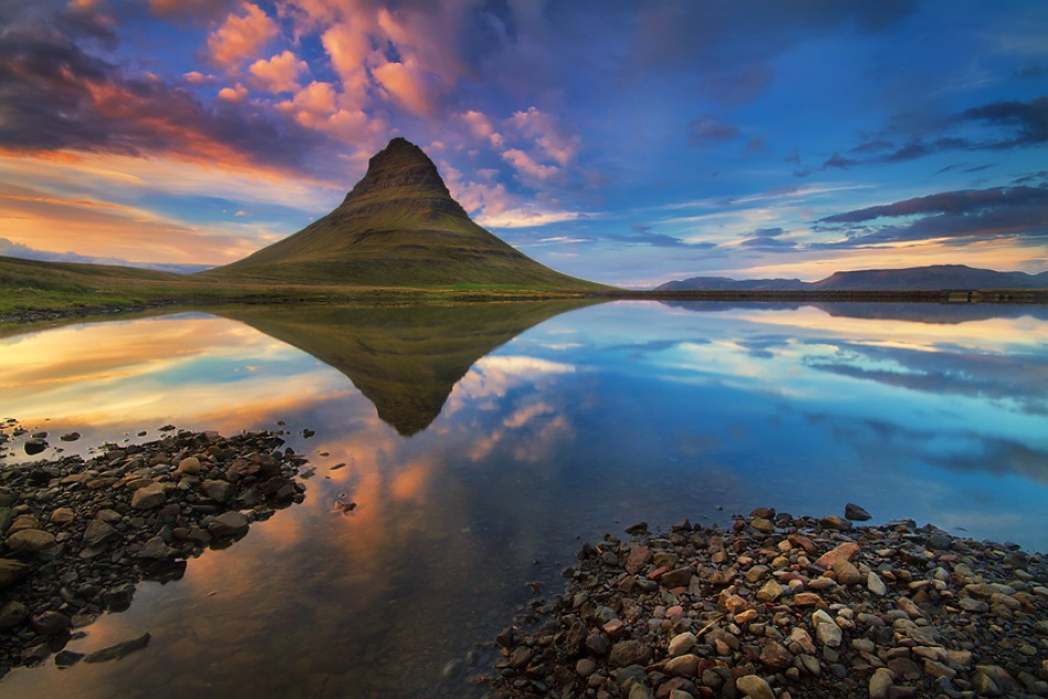 The clearing of Kirkjufell