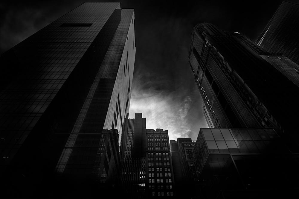 A piece of fine art art photography titled Buildings VI by Rodrigo Luft