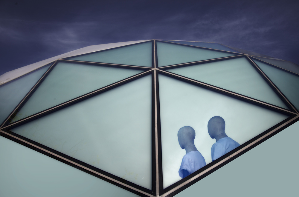 A piece of fine art art photography titled Vision In Blue by Marc Apers