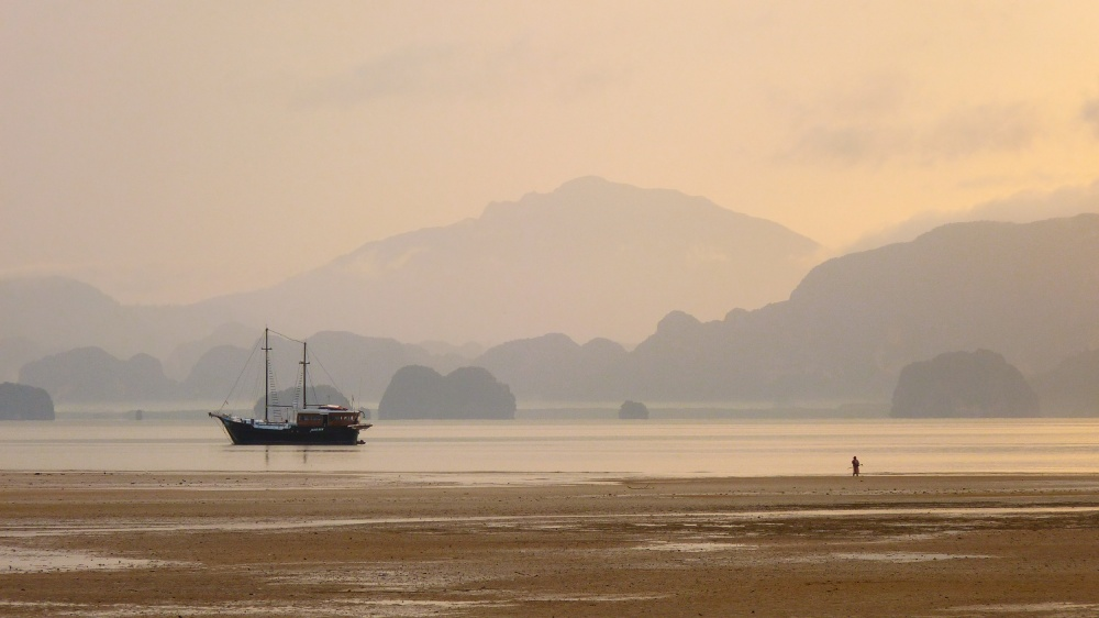 A piece of fine art art photography titled Koh Yao Noi Sunrise by Bart Brouwer