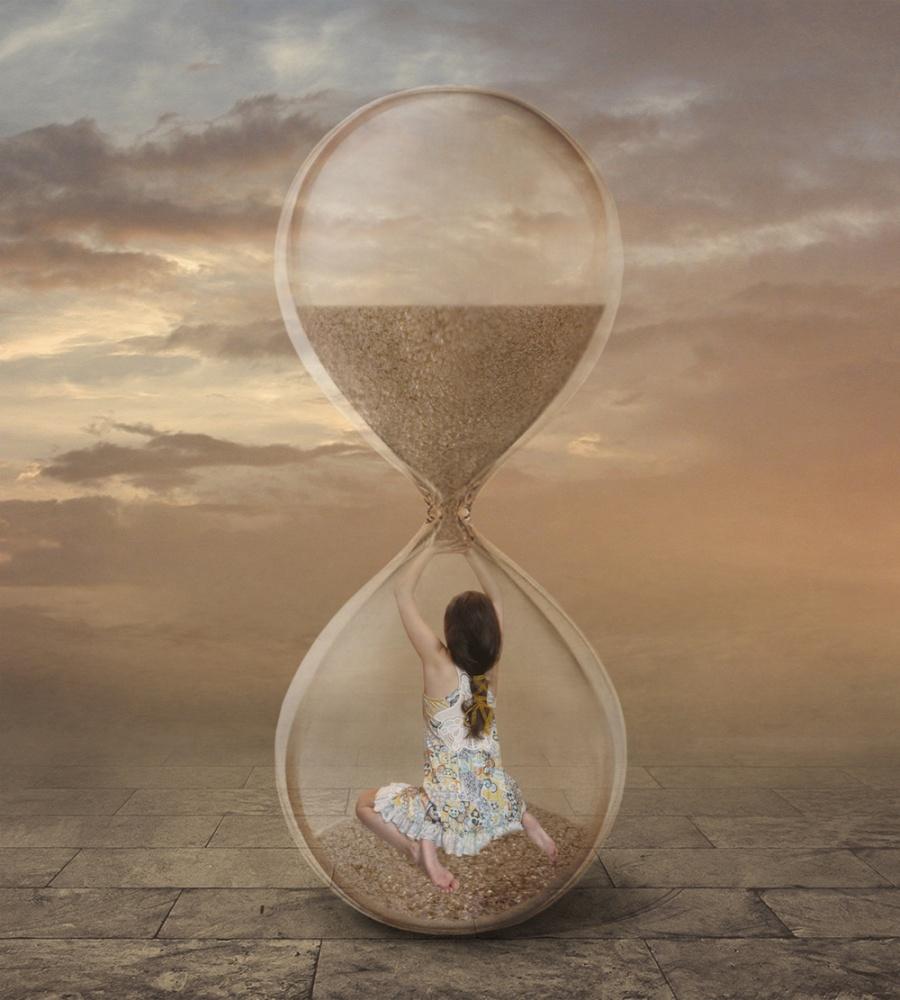 A piece of fine art art photography titled Hourglass by Iryna Kuznetsova (Iridi)