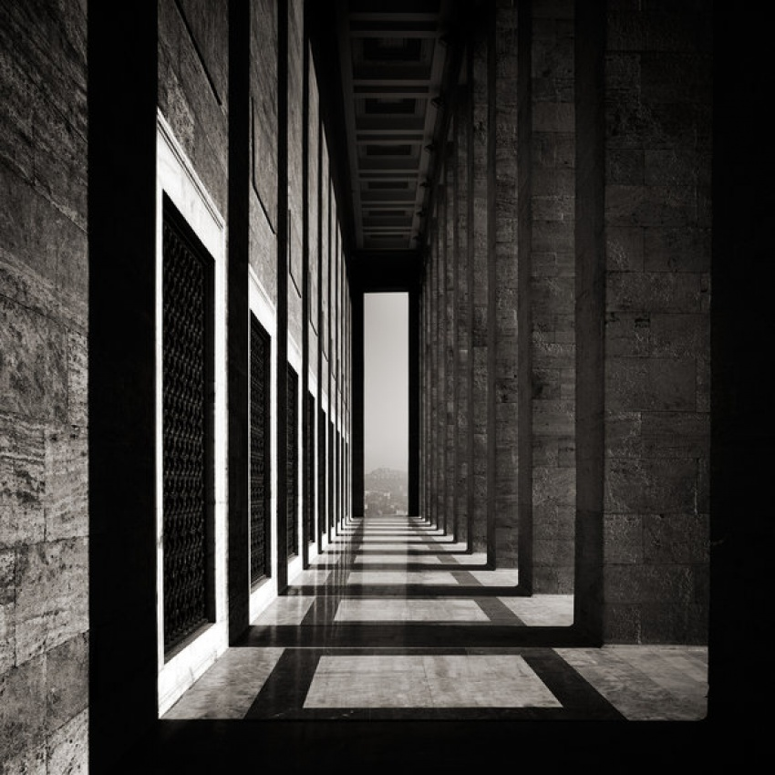 A piece of fine art art photography titled Mausoleum IV by Alain Etchepare