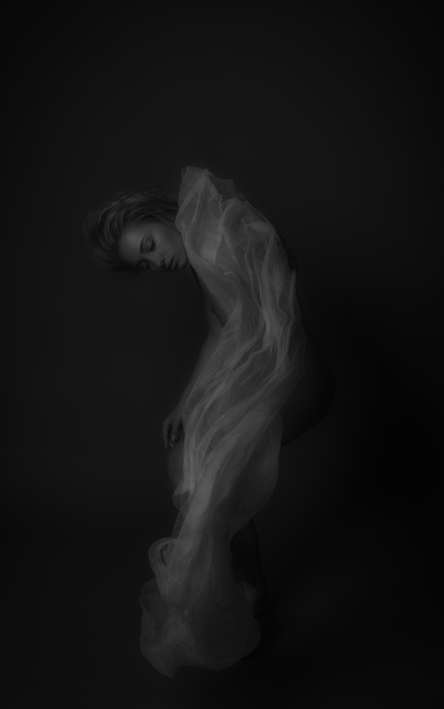 A piece of fine art art photography titled Veil for Anna by Malvin Jan Dyb